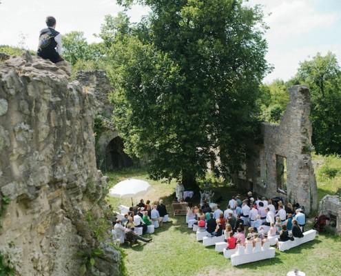 Mariage château médieval