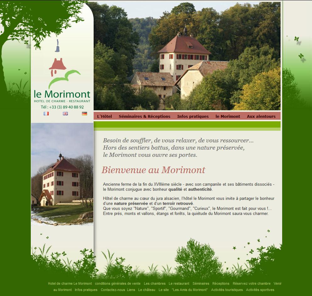 site internet hotel le Morimont
